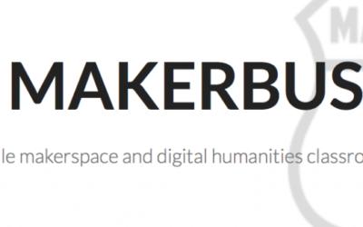 Capture d'écran de la page d'accueil du site 'makerbus'