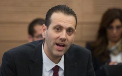 Le député du Likud Miki Zohar à la Knesset le 14 décembre 2015. (Crédit : Yonatan Sindel/Flash90)
