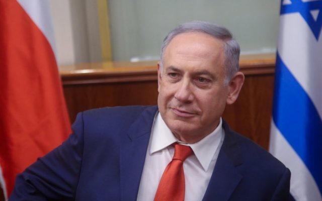 Le Premier ministre Benjamin Netanyahu lors d'une rencontre avec le ministre des Affaires étrangères de la République tchèque, Lubomir Zaoralek, au bureau du Premier ministre à Jérusalem, le 4 avril 2016 (Crédit : Marc Israel Sellem / POOL)