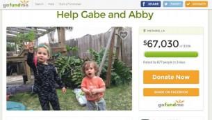 La page GoFundMe mise en place pour aider le rabbin Gabriel Greenberg et sa famille après l'incendie de leur maison avant Pessah, à la Nouvelle Orléans. (Crédit : capture d'écran GoFundMe)