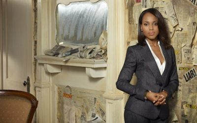 """Kerry Washington joue Olivia Pope dans la série politique d'ABC, """"Scandal"""". (Crédit : Craig Sjodin/ABC via Getty Images, JTA)"""