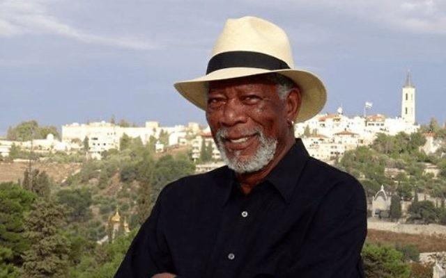 Morgan Freeman à Jérusalem. (Crédit photo : Facebook)