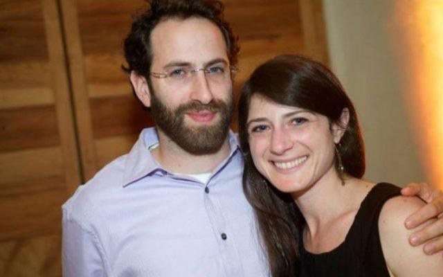 Le rabbin Gabriel Greenberg et son épouse, Abby Greenberg (Crédit : Facebook)