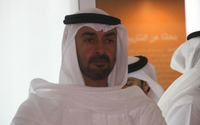 Le prince héritier d'Abou Dhabi Mohammed ben Zayed Al-Nahyane, en 2008. (Crédit : Imre Solt - CC BY-SA 3.0, via WikiCommons)