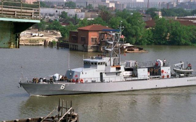 Le patrouilleur américain USS Sirocco (Crédit : Wikimedia/US Department of Defense)