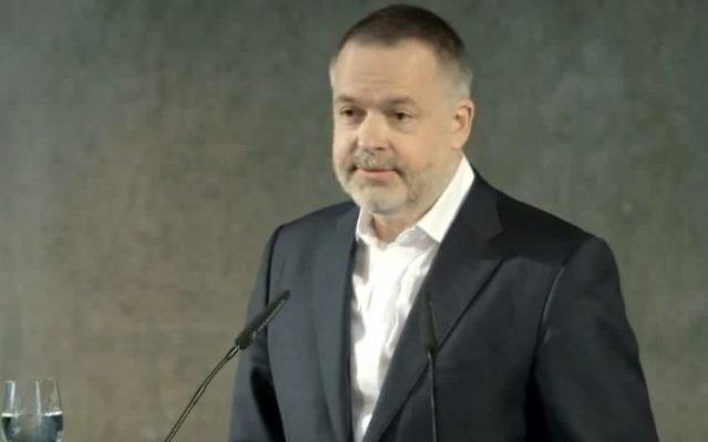 Le nouveau directeur du British Museum, l'Allemand Hartwig Fischer (Crédit : capture d'écran YouTube)
