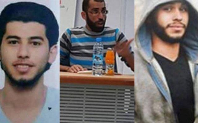 Les trois jeunes palestiniens arrêtés par les forces de sécurité de l'Autorité palestinienne, au nord de Ramallah, le 9 avril 2016. Selon une évaluation sécuritaire, ils prévoyaient une attaque terroriste à large échelle contre des cibles israéliennes.