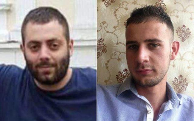 Dia Zabidi, 23 ans, de Lod (à gauche) et Mohammed al-Karnawi, 24 ans, de Rahat, deux étudiants en médecine israéliens tués dans un accident de voiture en Roumanie le 23 avril 2016. (Crédit : autorisation)