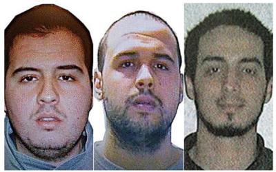 Dossier : (de gauche à droite) Khalid El Bakraoui, Ibrahim El Bakraoui and Najim Laachraoui, qui ont conduit les attaques à la bombe meurtrières de Bruxelles, le 22 mars 2016, sur une photo publiée par les autorités belges. (Police belge fédérale)