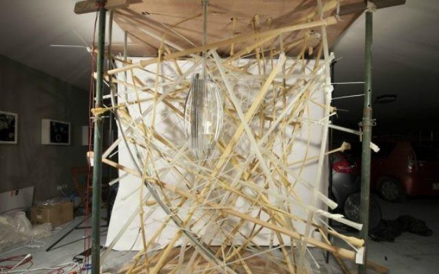 """""""Life Object"""", le nid sculpté conçu par une équipe de scientifiques et architectes israéliens pour la Biennale internationale d'architecture de Venise, en mai 2016. (Crédit : équipe Life Object)"""