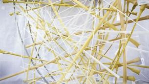 """Détail de """"Life Object"""", le nid sculpté conçu par une équipe de scientifiques et architectes israéliens pour la Biennale internationale d'architecture de Venise, en mai 2016. (Crédit : équipe Life Object)"""