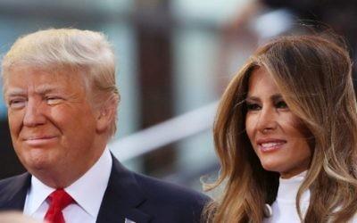 Le candidat républicain à la présidentielle Donald Trump et son épouse Melania Trump au NBC Town Hall du Today Show le 21 avril 2016 à New York. (Crédit : Spencer Platt/Getty Images/AFP)