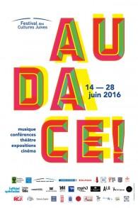 Affiche Festival des Cultures Juives (Crédit : Facebook/Festival des Cultures Juives - Officiel)