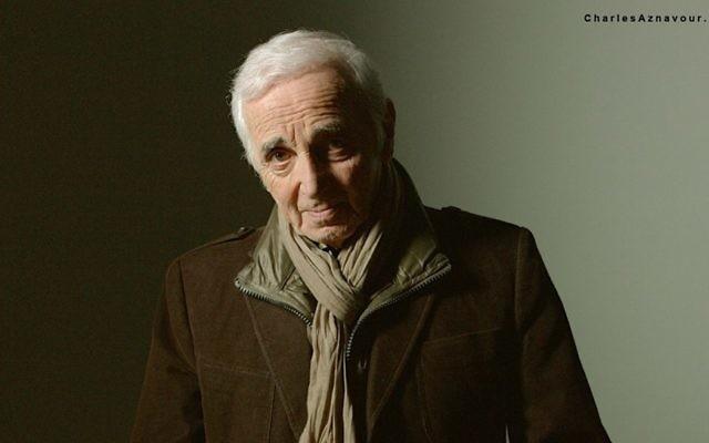 Charles Aznavour (Crédit : Facebook/Charles Aznavour)