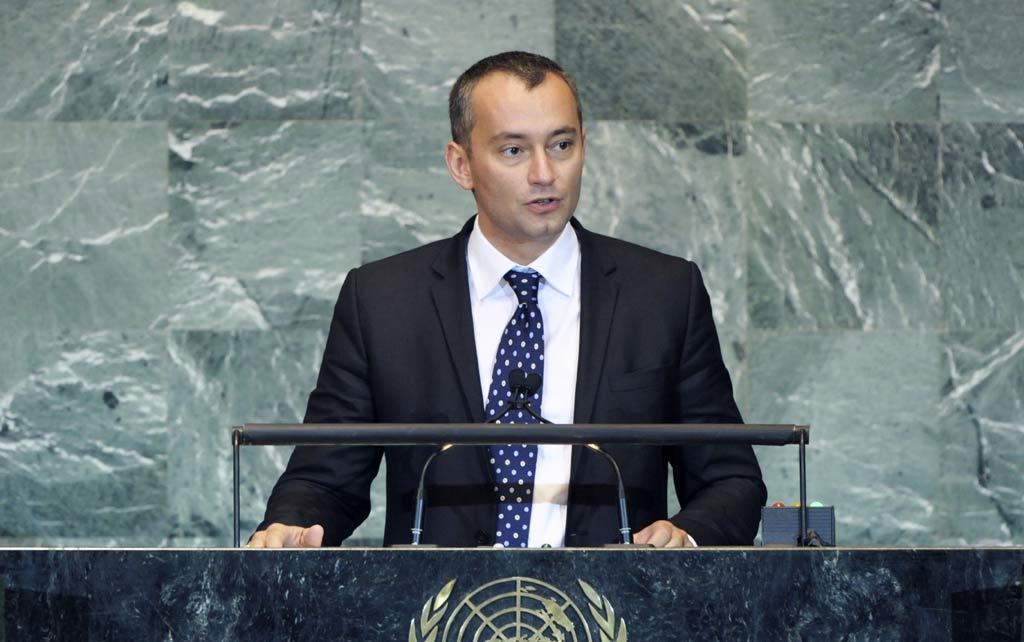 Nickolay Mladenov en 2013 (Crédit : ONU/Marco Castro)
