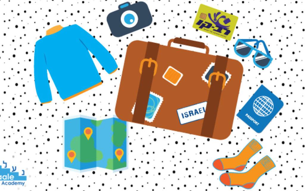 Illustration d'objets pour partir en voyage