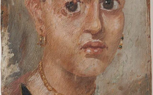 Un portrait du Fayoum de l'époque de la dynastie des Antonins d'une jeune femme que l'université de Zurich a rendu aux héritiers d'un éditeur juif allemand en avril 2016. (Crédit : Frank Tomio/University of Zurich)