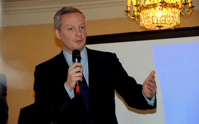 Bruno Le Maire, alors député UMP, en février 2013 (Crédit : SmartGov/Flicker/Wikimedia commons 2.0)