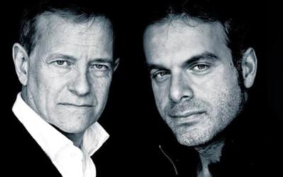 Francis Huster et Steve Suissa (Crédit : Facebook/Festival du Cinéma Israélien de Paris/Ingrid Mareski)