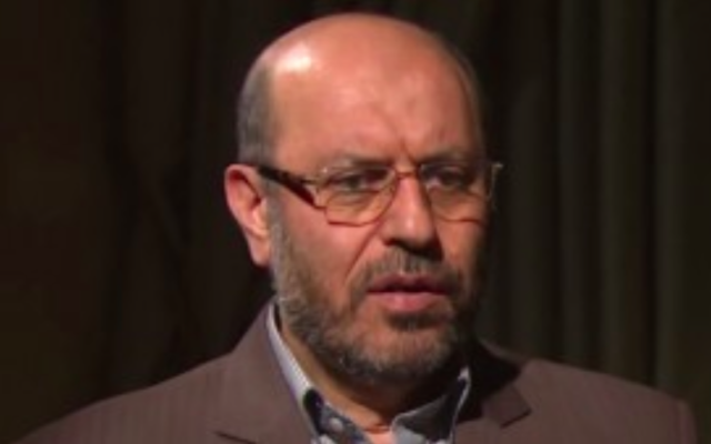 Hossein Dehghan, ministre iranien de la Défense.(Crédit : capture d'écran YouTube )