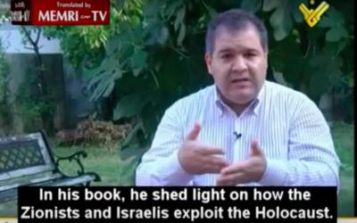 Atmane Tazaghart, rédacteur en chef de France 24 arabe (Crédit : Capture d'écran MEMRI/YouTube)