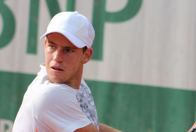 Le tennisman juif argentin Diego Schwartzman. (Crédit : CC BY-SA 2.0 Si Robi/Wikipedia)