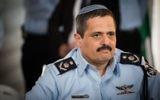 Le chef de la police Roni Alsheich lors de la cérémonie de bienvenue en son honneur, au siège de la police nationale à Jérusalem, le 3 décembre 2015 (Crédit : Hadas Parush / FLASH90)