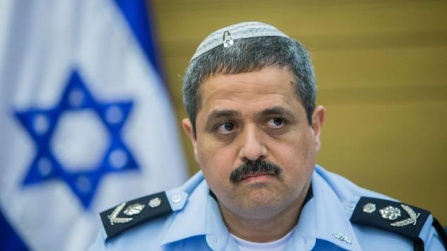 Le chef de la police, Roni Alsheich, assiste à une réunion à la Knesset, le 9 févier 2016 (Crédit : Yonatan Sindel/Flash90)