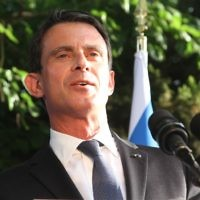 Manuel Valls, le 22 mai 2016 à Tel Aviv. (Crédit : Marine Crouzet/ Ambassade de France en Israel)