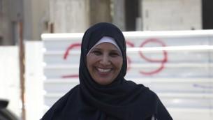 Miriam Abu Alqiyaan, 39 ans, habitante d'Umm al-Hiran, à Tel Aviv le 20 mai 2016. (Crédit : autorisation d'Esther Talkar)