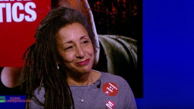 Jackie Walker, militante du Parti travailliste britannique, en 2016. (Crédit : capture d'écran YouTube)