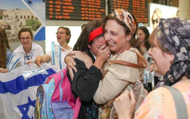 Des dizaines d'olim ont fait leur alyah (Credit: Noam Moskowitz)