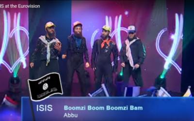 L'émission 'Eretz Nehederet' a réalisé une parodie d'un boys band djihadiste lors de l'Eurovision en mai 2016 (Crédit : capture d'écran YouTube)