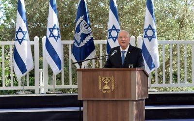 Le président Reuven Rivlin avait invité des représentants du monde entier pour le Jour de l'indépendance. (Crédit : Haim Zach)