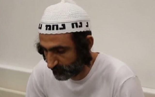 Avi Levy, qui a assassiné ses deux enfants en 2014, a été jugé coupable de meurtres le 23 mai 2016. (Crédit : capture d'écran Ynet)