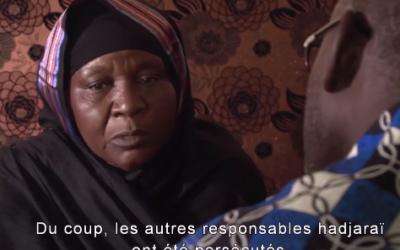 """Extrait du film """"Hissein Habré, une tragédie tchadienne"""" (Crédit : capture d'écran YouTube)"""