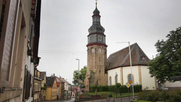 L'église du village de Kallstadt, dans le sud de l'Allemagne, le 8 juin 2016. (Crédit : AFP PHOTO/DANIEL ROLAND)