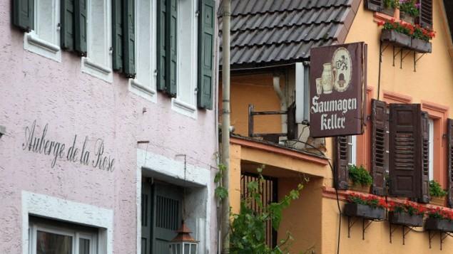 Le restaurant Saumagen Keller (la cave de la panse de porc) à Kallstadt, dans le sud de l'Allemagne, le 8 juin 2016. (Crédit : AFP PHOTO/DANIEL ROLAND)