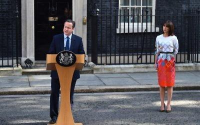 David Cameron, Premier ministre sortant du Royaume-Uni au 10 Downing Street, le 24 juin 2016. (Crédit : AFP/Ben Stansall)