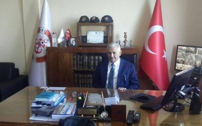 Binali Yildirim, le Premier ministre turc. (Crédit : Facebook)