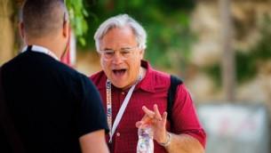 Alan Weinkrantz à la conférence Kahenacon SEO à Jérusalem en 2015. (Crédit : Kahena Digital Marketing)