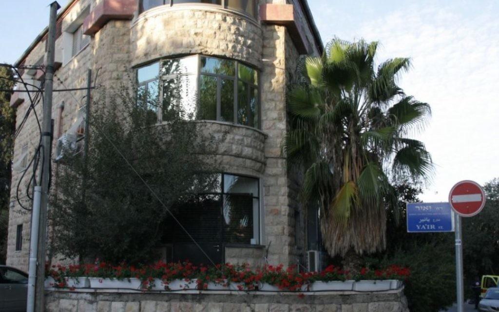 La maison Bak'a sur la rue Rakevet (Crédit : Shmuel Bar-Am)