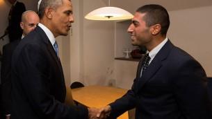 Siavosh Derakhti et Barak Obama (Crédit : Facebook/Siavosh Derakhti)