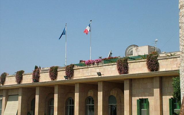 Consulat Général de France à Jérusalem (Crédit : Neta/CC BY-SA 3.0)