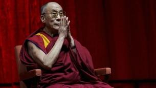 Dalaï Lama, le 5 juin 2006 (Crédit : Yancho Sabev/Wikimedia commons)