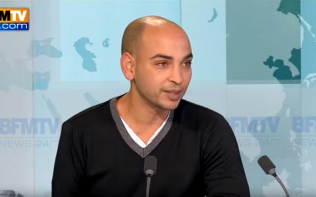 Abdelghani Merah sur le plateau de BFM TV, en novembre 2012. (Crédit : capture d'écran YouTube)