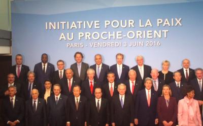 Les participants à la conférence ministérielle à Paris, le 3 juin 2016 (Capture d'écran L'Elysée)