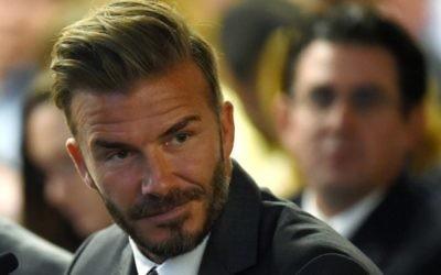 David Beckham à Las Vegas, le 28 avril 2016. (Crédit : Ethan Miller/Getty Images/JTA)