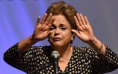 La présidente du Brésil Dilma Rousseff le 10 mai 2016. (Crédits : AFP Photo / Evaristo Sa)