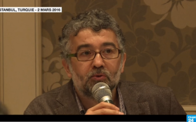 Erol Önderoglu, journaliste et représentant de Reporters sans Frontières en Turquie, lors d'une interview en mars 2016. (Crédits : capture d'écran YouTube / France 24)